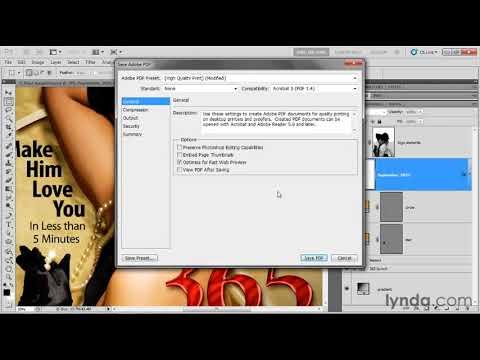 Create a high-resolution PDF file in Photoshop | lynda.com tutorial
