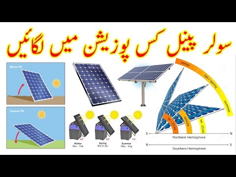 How to Install Solar Panels at the Correct Angle Urdu/Hindi By Zakria 2017