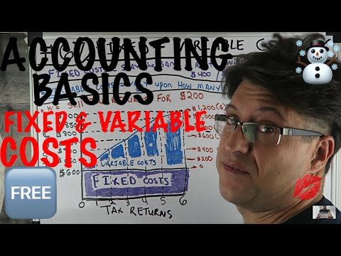 Accounting for Beginners #67 / Fixed Costs / Variable Costs / Managerial Accounting Tutorial 101