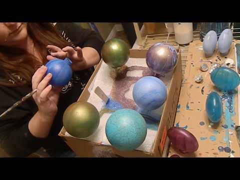 (39) DIY Acrylic Poured Christmas Ornaments