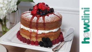 Buttermilk Cake with Mascarpone Cream & Berries: Howdini Cakes