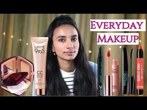 Everyday Makeup Look Using Lakme Products | Summer/Sweatproof - Natural Makeup with Affordable Items