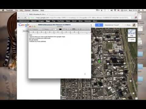 Using Google maps to get directions