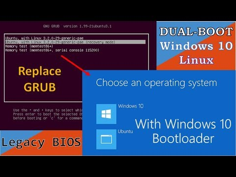 Replace GRUB with Windows 10 Bootloader on Dualboot