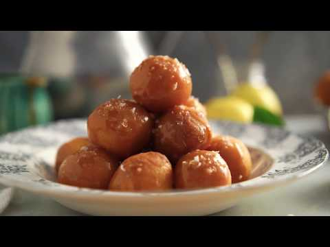Idaho® Potato Doughnut Holes with Salted Caramel Glaze