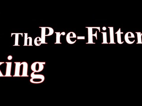 The New Pre-Filter Demo.