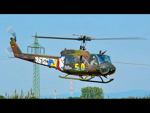 BELL UH-1D RC SCALE MODEL ELECTRIC HELICOPTER FLIGHT DEMONSTRATION
