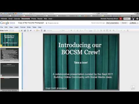 Google Presentations: How to Add and Image & Text to a Slide