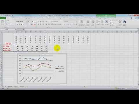 A simple line chart for 3 values in Microsoft Excel 2010