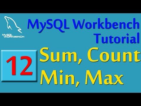MySQL Workbench, 12, Select Sum Count Min Max Avg Data Pada Table, Database Untuk Visual Basic Expre