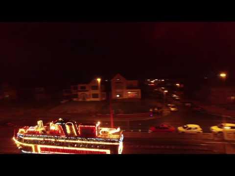 Blackpool illuminated tram by drone