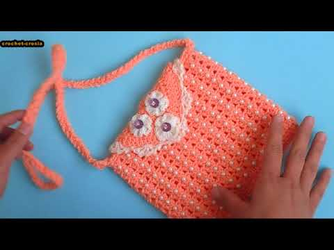How to make Crochet/Crosia Beaded Purse Design  Urdu/Hindi