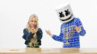 Marshmello & Wengie Teach You How To: Play Dreidel | Happy Hanukkah