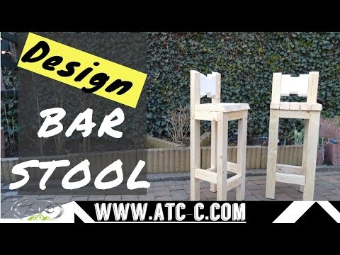HOW TO Build 2 bar stool out of 8 pieces of lumber // DIY