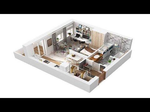 40 Square Meter Apartment █▬█ █ ▀█▀ Design in Rome, 3D