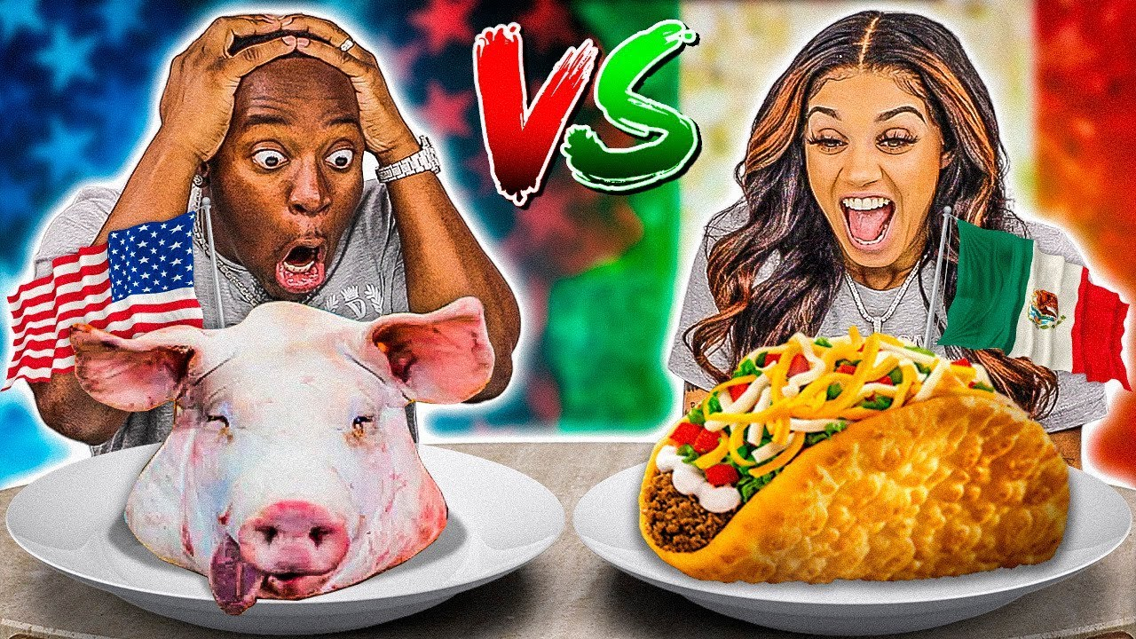AMERICAN VS MEXICAN FOOD CHALLENGE