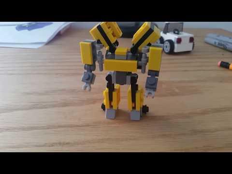 Lego Transformers | Mini Lego Bumblebee V3 tutorial!