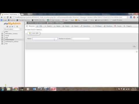 How to create a MySQL Database and Table | TutorialRegion