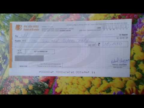 Bank Of Baroda Cheque FiLL Up