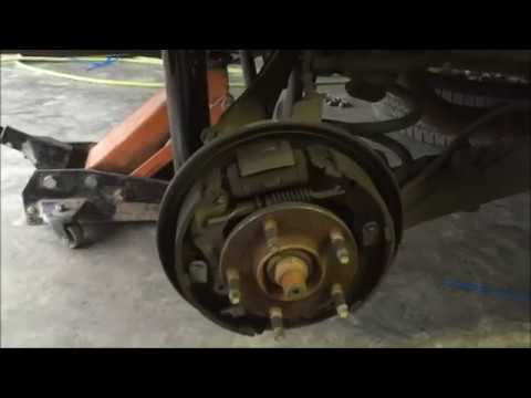 how to replace the rear brakes on a 2002 mazda tribute