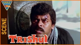 Trishul Hindi Dubbed Movie || Chiranjeevi After Seeing His Mother || Eagle Hindi Movies