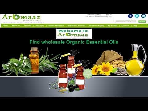 Find wholesale Organic Essential Oils @ Aromaaz International