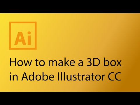How to make a 3D box package in Adobe Illustrator CS6