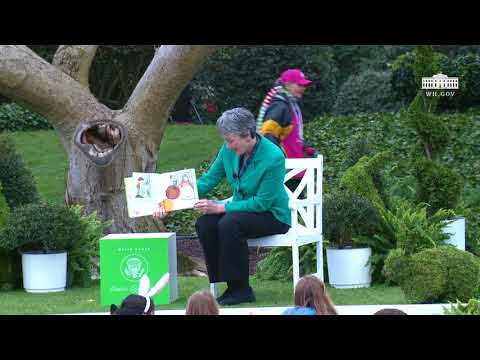 White House Easter Egg Roll: Reading Nook with Secretary of the Air Force Heather Wilson