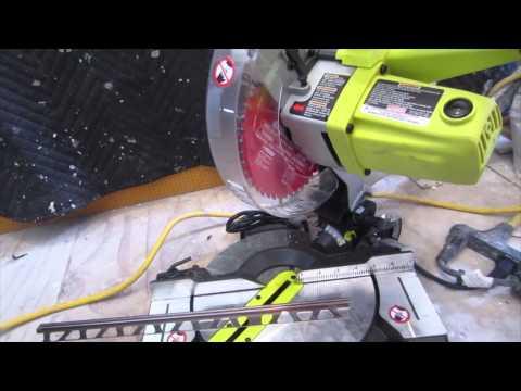 How to cut Schluter Aluminum trim for tile edges