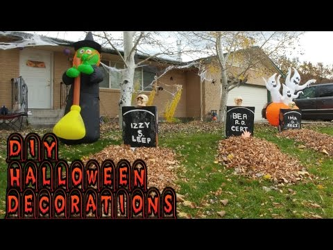 DIY Halloween decorations 🎃 👀 👻