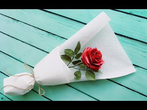 ABC TV | How To Make Paper Rose Bouquet Flower From Printer Paper - Craft Tutorial