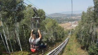 ZipRider Zip Line On-ride (HD POV) Park City Mountain Resort