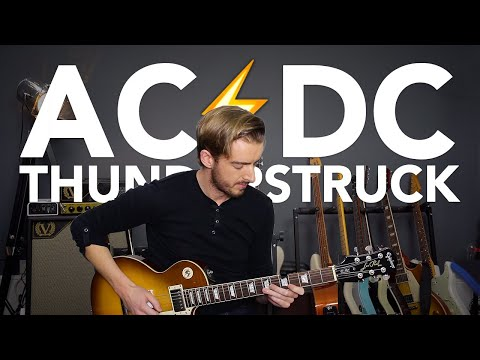 THUNDERSTRUCK Guitar lesson Tutorial AC/DC HOW TO PLAY IT FAST