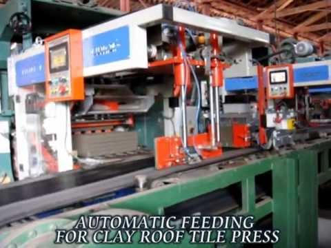 Feeding machine for clay roof tile press - roof tile machine-roofing tile making-kiremit presi