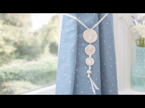 Craft corner: How to make a curtain tie back using salt dough