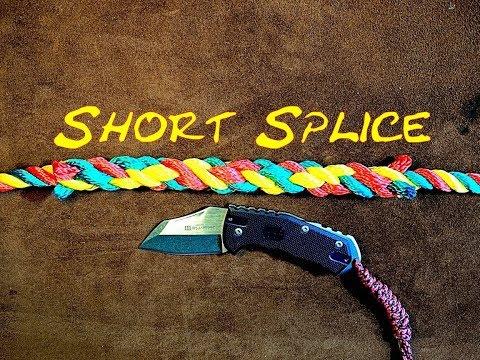 Short Splice, Splicing Rope, Sailor's Short Splice, Over Under Splicing, (Short Splicing Tutorial)