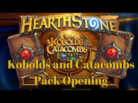 40 FREE PACKS? Hearthstone Kobolds and Catacombs Pack Opening
