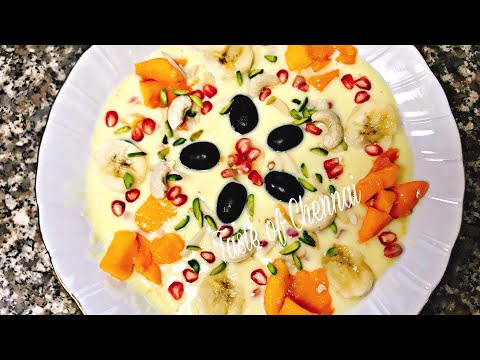 Iftar Party at Home || Custard Pudding Recipe | Fruit Custard Pudding