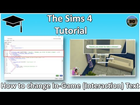 The Sims 4 Tutorial: How to change In-game (interaction) text