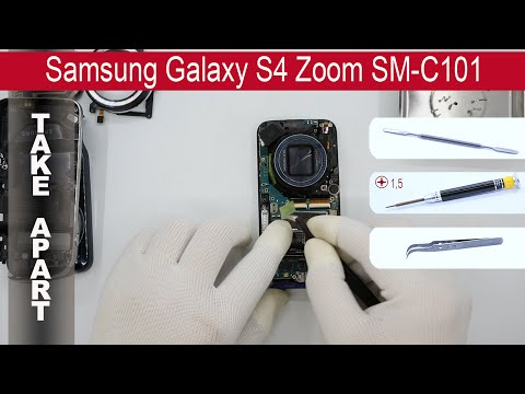 How to disassemble 📱 Samsung Galaxy S4 Zoom SM-C101, Take Apart, Tutorial