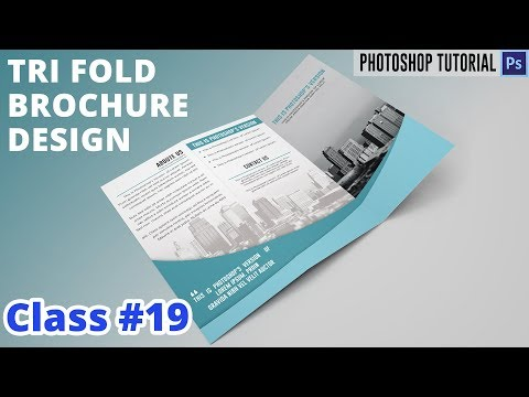 How to design a trifold brochure in Photoshop | Class #19