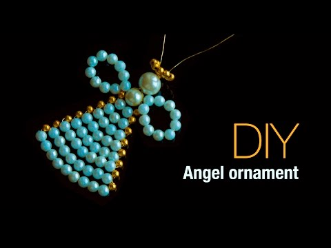 DIY christmas angel ornaments  Holiday room decor   ANGELITOS NAVIDEÑOS  Beads art