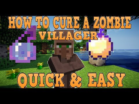 How To Cure A Zombie Villager Minecraft