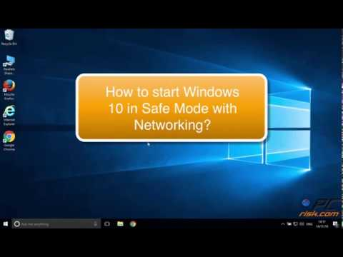 How to start Windows 10 in Safe Mode with Networking?