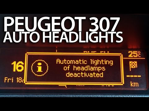How to activate auto headlights in Peugeot 307 (DRL automatic lights)