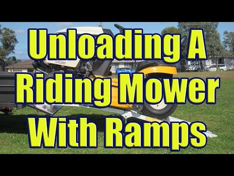 Aluminum Ramps to Load Riding Mower (Using Folding Trailer Ramps for Cub Cadet LTX 1050)