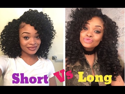 How To Make Your Crochet Braids Long | FT Freetress Ringlet Wand Curl