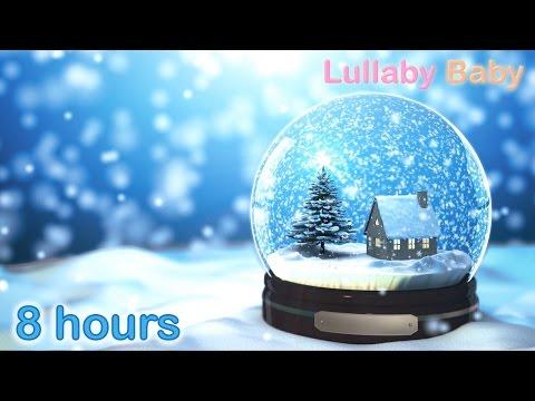 ☆ 8 HOURS ☆ CHRISTMAS MUSIC ♫ Christmas Music Instrumental ☆ HARP Carols ☆ Snow Falling / Snowflakes