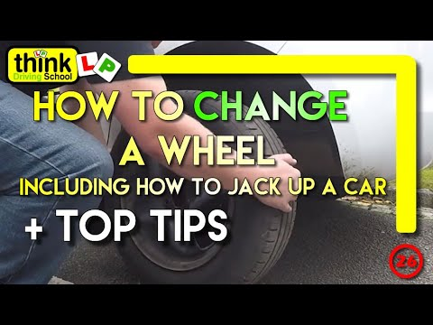 How To Change a Wheel Including How to jack up a car safely, Driving Lesson
