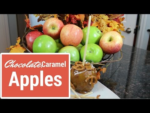 Chocolate & Caramel Apple Pops